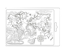 Stamperia Soft Mould A5 Map of the World (K3PTA544)
