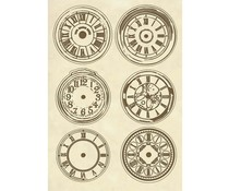 Stamperia Wooden Shapes A5 Clocks (KLSP066)