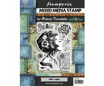 Stamperia Mixed Media Stamp Lady (WTKAT09)