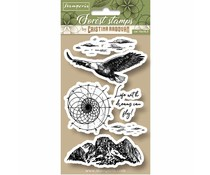 Stamperia Natural Rubber Stamp Eagle (WTKCCR07)
