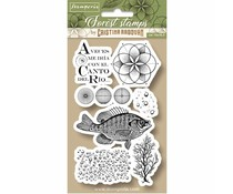 Stamperia Natural Rubber Stamp Fish (WTKCCR09)