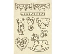 Stamperia Wooden Shapes A5 Little Girl (KLSP068)