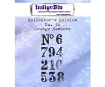 IndigoBlu Collector's No. 36 Grunge Numbers (IND0593)
