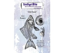IndigoBlu Old Fossil A6 Rubber Stamp (IND0595)