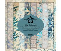 Dixi Craft Blue Ephemera 6x6 Inch Paper Pack (PF117)