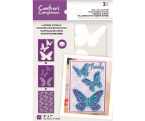 Crafter's Companion Full of a Flutter Layering Kaleidoscope Stencils (CC-STEN-FOAF)