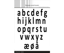 Simple and Basic Alphabet XXL Lower Case Dies (SBD083)
