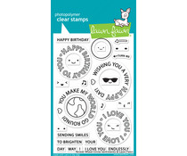 Lawn Fawn Reveal Wheel Circle Sentiments Clear Stamps (LF2225)