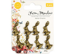 Craft Consortium Rabbits Metal Charms (CCMCHRM010)