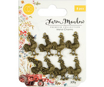 Craft Consortium Rooster Metal Charms (CCMCHRM011)