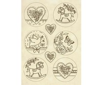 Stamperia Wooden Shapes A5 Plaquette Baby (KLSP069)