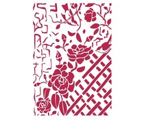 Stamperia Stencil A4 Fence with Roses (KSG440)