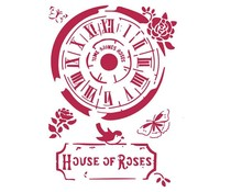 Stamperia Stencil A4 Clock House of Roses (KSG442)