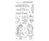 My Favorite Things Unicorns and Glitter Clear Stamps (BB-100)