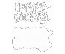 My Favorite Things Hand-Lettered Happy Birthday Die-namics (MFT-1724)