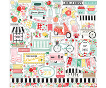 Carta Bella Summer Market 12x12 Inch Element Sticker (CBSUM115014)