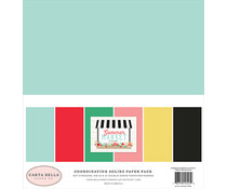 Carta Bella Summer Market 12x12 Inch Coordinating Solids Paper Pack (CBSUM115015)