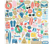 Echo Park Dive Into Summer 12x12 Inch Element Sticker (DIS210014)