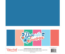 Echo Park Dive Into Summer 12x12 Inch Coordinating Solids Paper Pack (DIS210015)