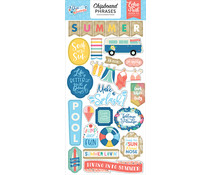 Echo Park Dive Into Summer 6x13 Inch Chipboard Phrases (DIS21022)