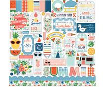 Echo Park Summertime 12x12 Inch Element Sticker (SUM209014)