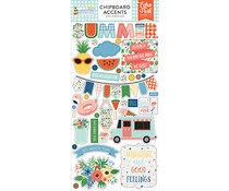 Echo Park Summertime 6x13 Inch Chipboard Accents (SUM209021)