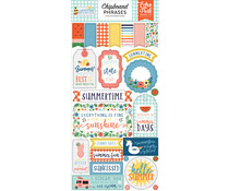 Echo Park Summertime 6x13 Inch Chipboard Phrases (SUM209022)
