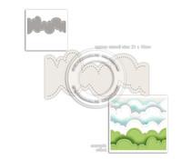 Polkadoodles Cloud Landscape Stencil (PD8011)