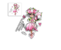 Polkadoodles Tulip Darling Bud Clear Stamps (PD8041)