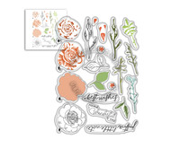 Polkadoodles Spring Rose Clear Stamps (PD8057)