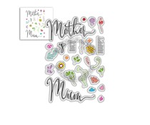 Polkadoodles Mother's Day Sentiments Clear Stamps (PD8058)