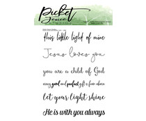 Picket Fence Studios Every Good and Perfect Gift Clear Stamps (S-166)