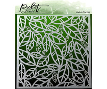 Picket Fence Studios Funky Leaves Stencil (SC-150)