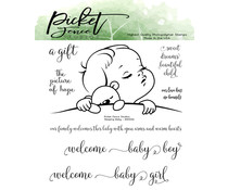 Picket Fence Studios Sleeping Baby Clear Stamps (KIDS-104)