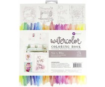 Art Philosophy Watercolor 8x10 Inch Coloring Book (585723)