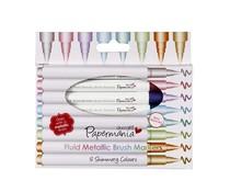 Papermania Fluid Metallic Brush Markers (8pcs) (PMA 8511008)