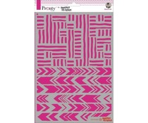 Pronty Crafts Stripes A4 Stencil (470.770.035)