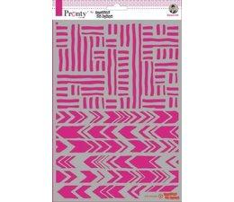 Pronty Crafts Stripes A4 Stencil (470.770.035)