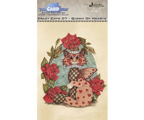 The Card Hut Crazy Cats Queen of Hearts Clear Stamps (LRCC007)