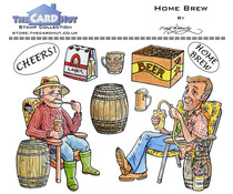 The Card Hut Home Brew Clear Stamps (MBGSHB)
