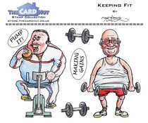 The Card Hut Keeping Fit Clear Stamps (MBGSKF)
