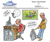 The Card Hut Tech Support Clear Stamps (MBGSTS)