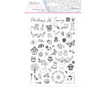 Aladine Bullet Journal Foam Stamps Spring (03933)