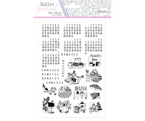 Aladine Bullet Journal Foam Stamps Universal Months (03939)