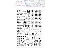 Aladine Bullet Journal Foam Stamps Office Desk (03952)
