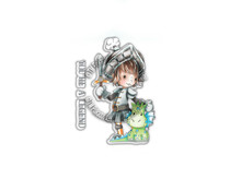 Polkadoodles Little Dudes Legend Knight Clear Stamps (PD7855)