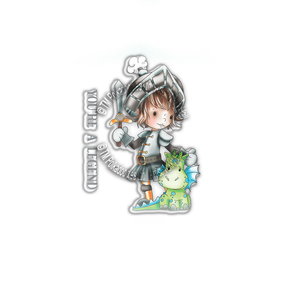 Polkadoodles Little Dudes Legend Knight Clear Stamps Pd7855 Craftlines