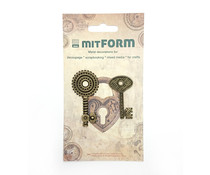 Mitform Keys 3 Metal Embellishments (MITS038)