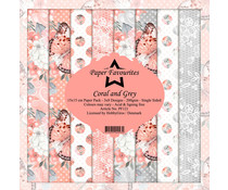 Dixi Craft Coral and Grey 6x6 Inch Paper Pack (PF121)