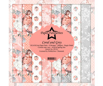 Dixi Craft Coral and Grey 12x12 Inch Paper Pack (PF321)